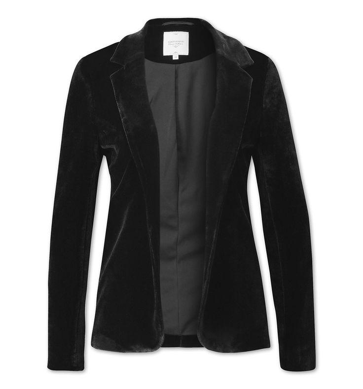 Functionimage view Blazer en velours in noir