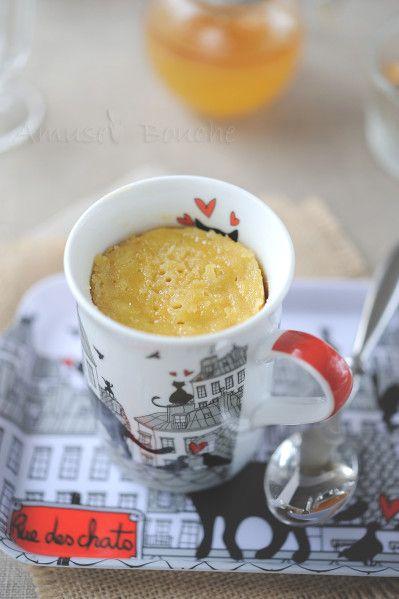 Mug cake pomme et miel au micro-ondes