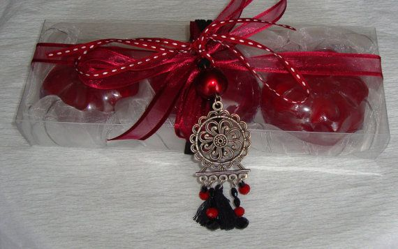 Burgundy Boho Gift Set for Women Bordeaux by JoannasScentedSoaps