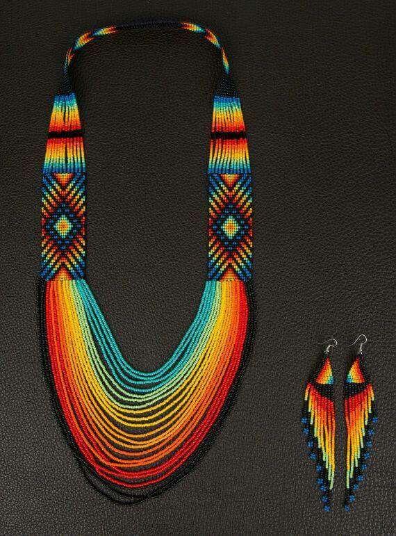 Pacha Mama colombiana medicina collar ~ corazón de arco iris + bono Matching…