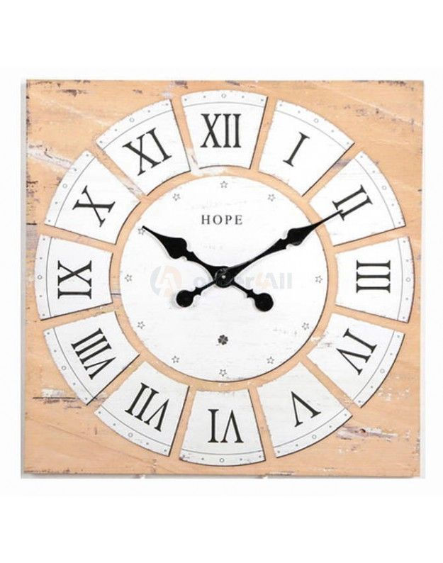 Canvas Wall Clock 60x60 cm