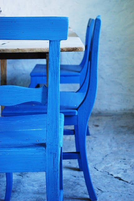 Cobalt blue chairs