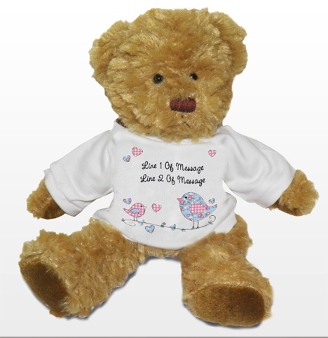 Personalised Teddy Bear... Adorable teddy bear for you to personalise with any message!