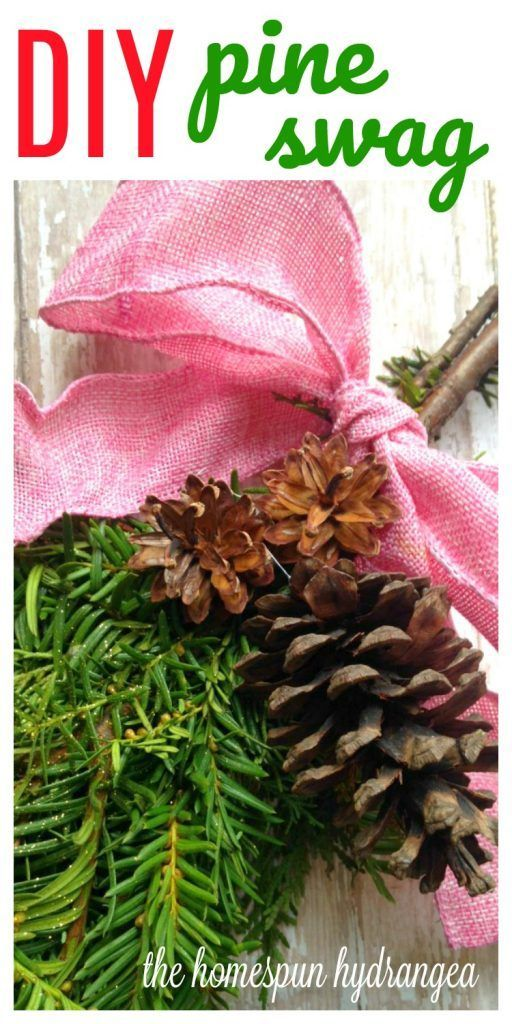 Upcycle your Christmas Tree into a decorative door swag. Check out this DIY Pine Swag tutorial and get your front door looking fancy!