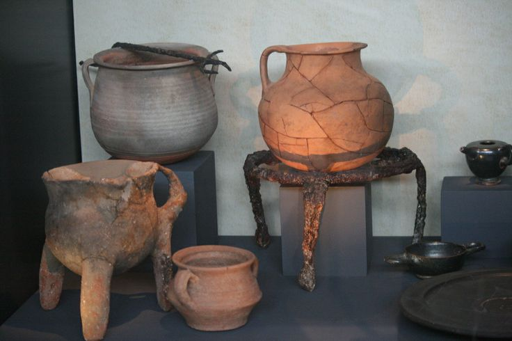 Vessels for cooking and serving food, 4th c. B.C. - 3rd c. A.D., Archaeological Museum, Thessaloniki, Greece
