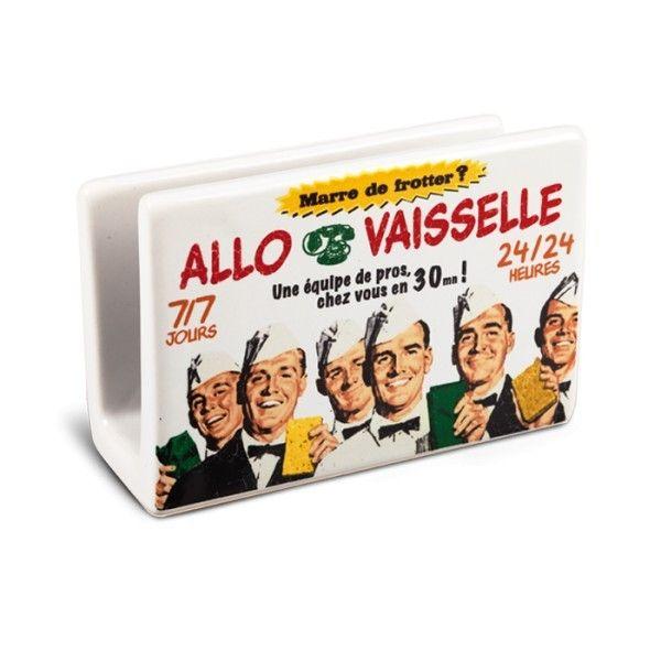 """Porte éponge """" Allo vaisselle"""" natives déco rétro vintage - Provence Arômes Tendance sud"""
