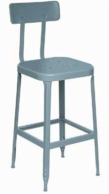 Industrial Design Rules - <3 We have this stool - it was my husband's dad's drafting stool.   lyon-stools-no-lines.jpg: Steel Seats, Seats Stools, Dove Gray, Lyons Workspaces, Black Rubber, 400 Lb, Rubber Feet, Bar Stools, Steel Glide