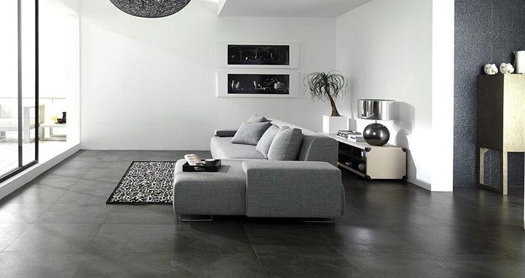 STON-KER. Trafic Cemento Antracita 59,6 x 59,6 cm. PORCELANOSA.