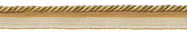 "12 Yard Value Pack of Small Two Tone Gold Baroque Collection 3/16"" Cord with Lip Style# 0316BL Color: GOLD MEDLEY - 8633 (36 Ft / 11 Meters)"