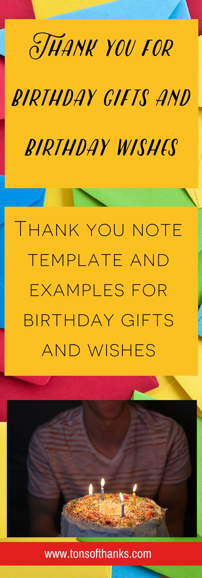 how to write thank you notes for wedding gift cards%0A Thank you for the birthday wishes  Thank you note examples for thanking  someone for the birthday wishes or birthday gifts