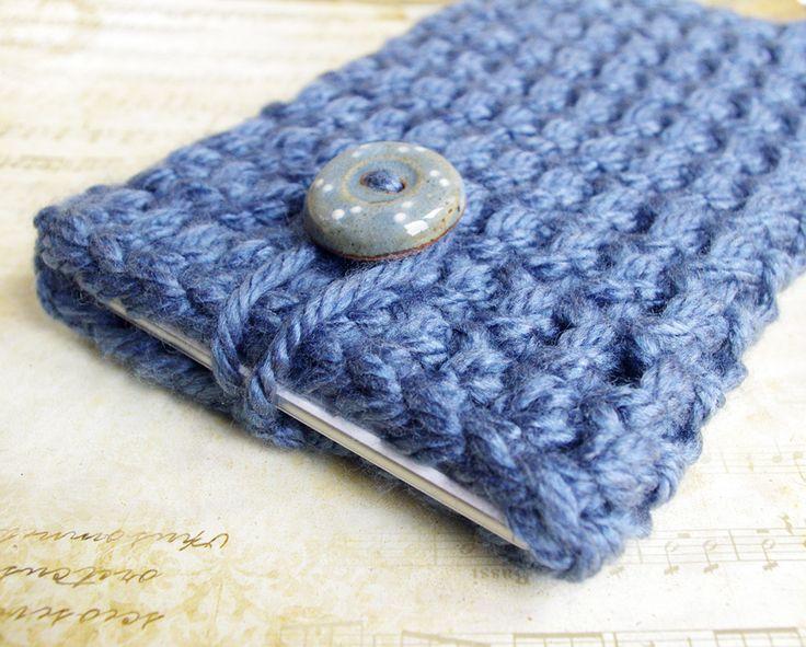 Housse tablette sony xpéria étui gris anthracite grosse laine crochet : Housses ordinateurs et tablettes par cocoflower-workshop