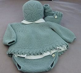 TUTORIAL en video, e instrucciones y gráfico de Jersey de Bebé, baby cardigan knitting, a dos agujas