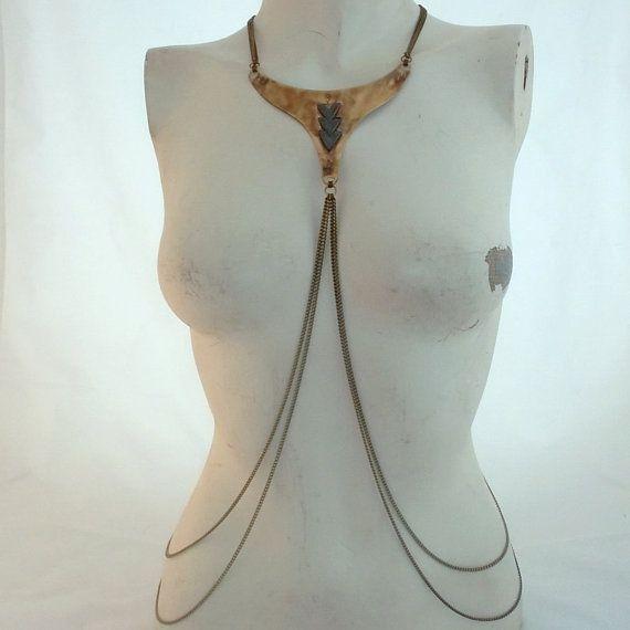 Trinity - Harness Body Chain Necklace