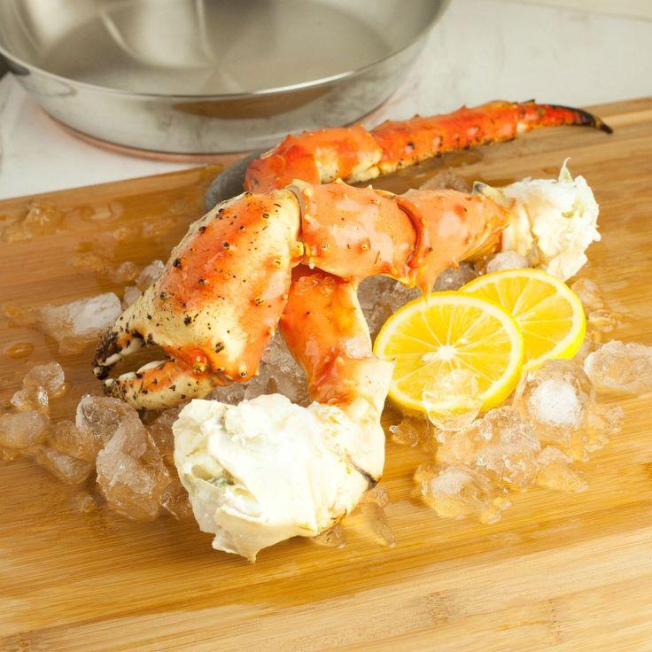 Jumbo Alaskan King Crab Legs & Claws Frozen 1lb Alaskan