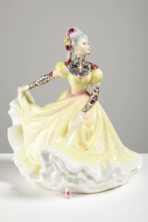 Tatoo Porcelain Doll