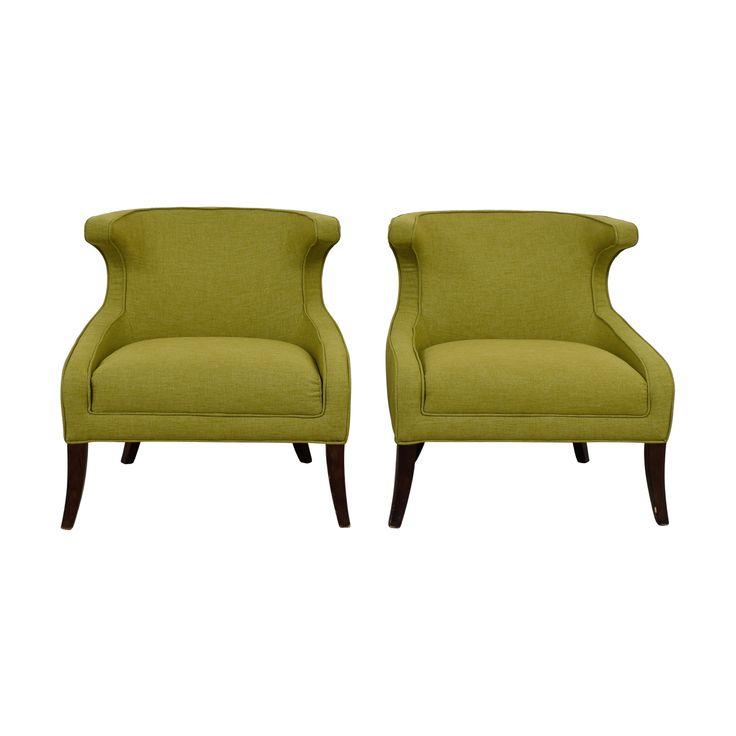 Sunpan Elliot Green Accent Chairs