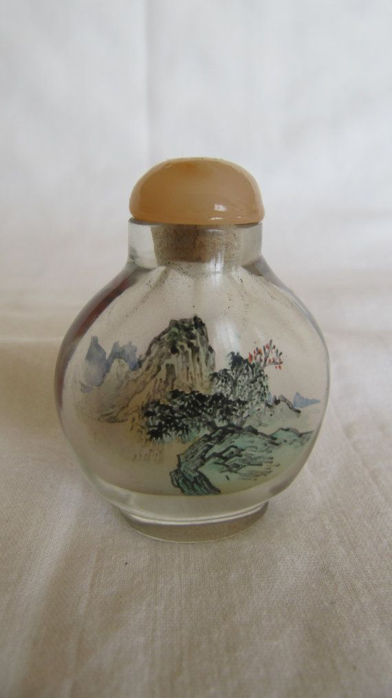 Vintage Chinese Glass Snuff Bottle
