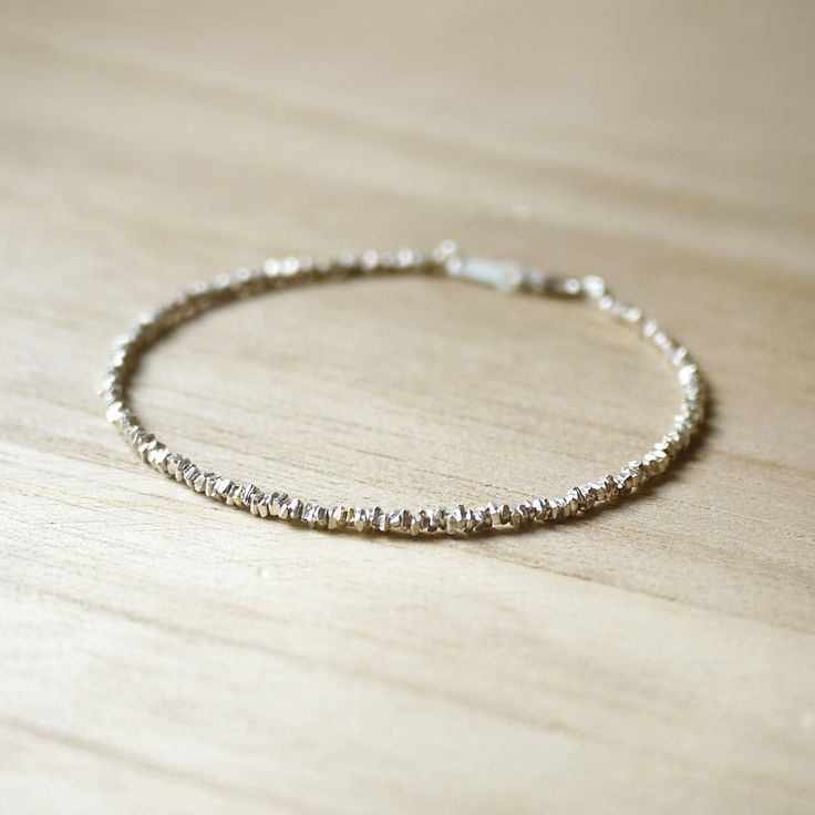 Shinning Stars - Irregular faceted 925 Sterling silver bracelet