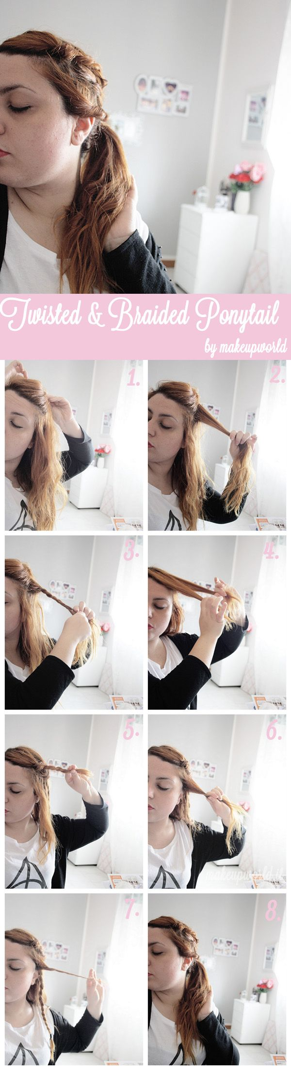 twisted and braided ponytail tutorial