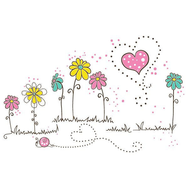 Vinilos Decorativos Flores de Amor