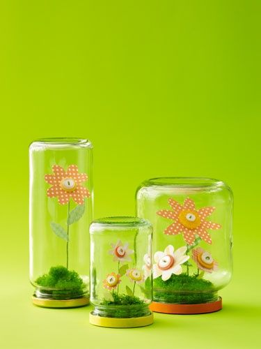 Flower in a bottle. Cute gift idea for kids to make for someone!