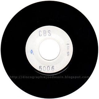45 RPM - CBS 5006 - 8 mai 1970 - L'Amérique