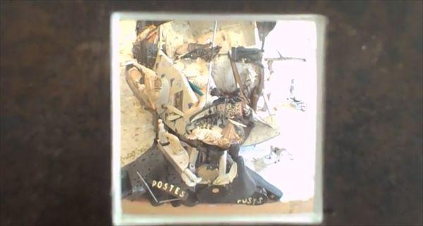 四角い穴の向こうに描かれた肖像画 離れて見るとその正体に驚き - http://naniomo.com/archives/6742