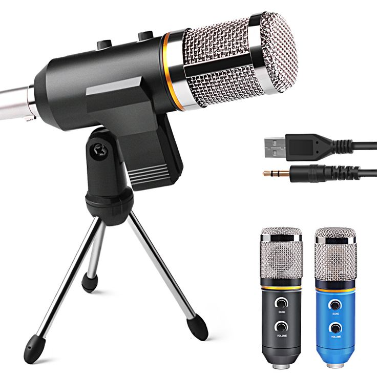 Professional USB & 3.5mm Condenser Microphone with Stand & Pop Filter //Price: $47.99 & FREE Shipping //     #tech