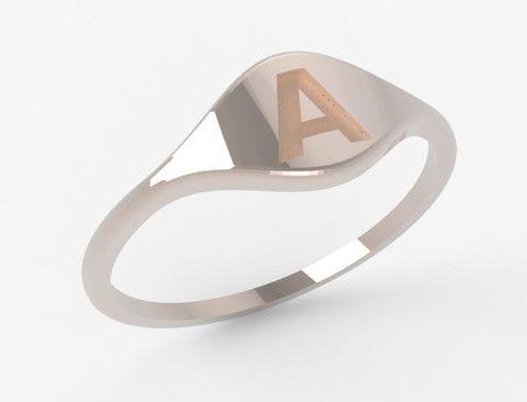 Odile Ovale ring 14k rosé goud – Saddal jewels Amsterdam