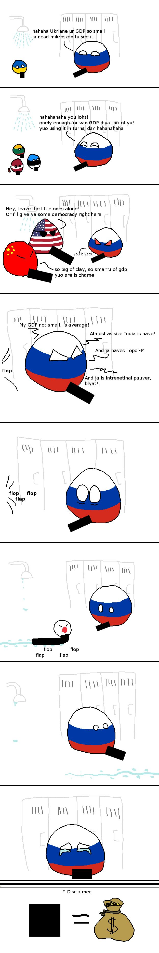 G is for Gross ~GDP ( Russia, Ukraine, Lithuania, Latvia, Estonia, USA, China, Japan ) by thrawn0o #polandball #countryball