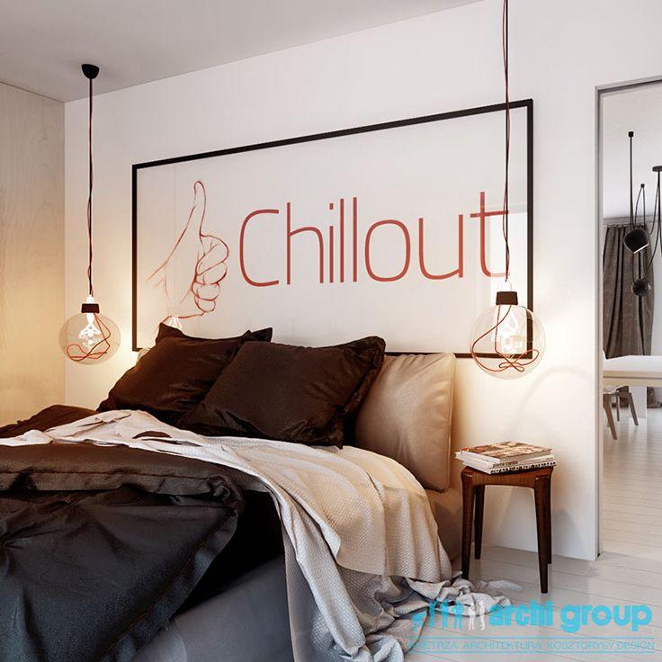 Bedroom design in Katowice, POLAND - archi group. Sypialnia w Katowicach.