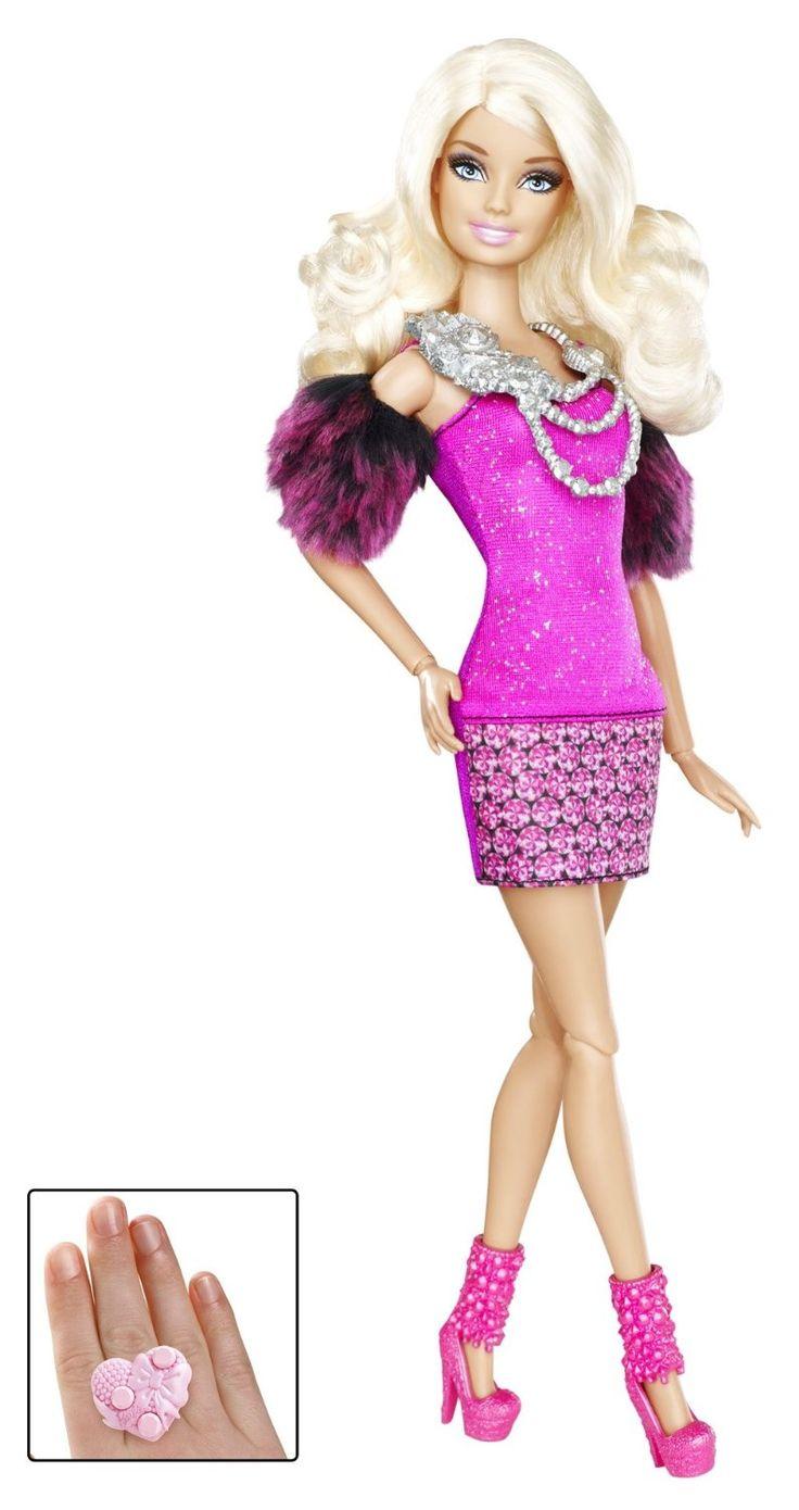 AmazonSmile: Barbie Fashionistas Barbie Doll - Pink Dress ...