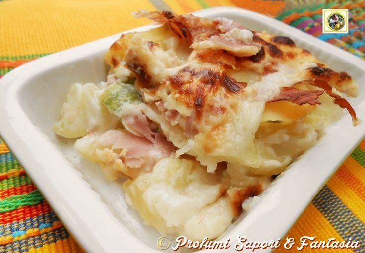 Parmigiana di patate con zucchine e prosciutto  Blog Profumi Sapori & Fantasia