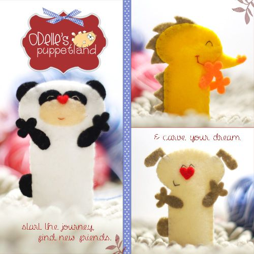 OZ, EGEE,  POLLY are 3 of the 50 cute characters in odelle's puppetland. Each character here, is available for the finger puppet, pencil puppet  mini puppet. Get them for only rp7.000/each. Contact me: http://odellespuppetland.blogspot.com sms/wa : 0896 420 97 266 ping me! 7448EE1E  #fingerpuppet # puppet #odellespuppetland #handmade #craft  #felt  #bonekajari #panda #hedgehog #dog #baby #kids #edutoys