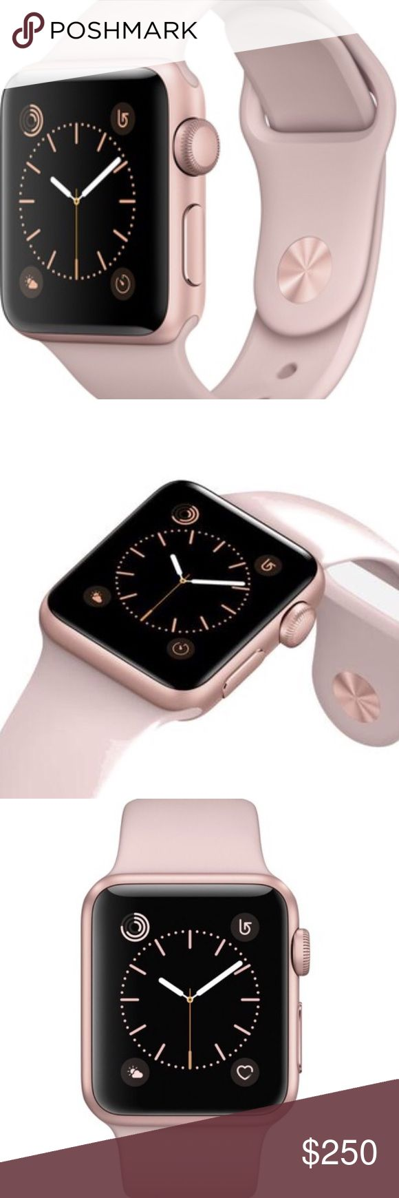 New Apple Watch Gen.2 Series 1 Rose Gold 38mm Brand new Apple Watch Rose Gold 38mm Gen.2 Series 1 never opened sealed package. Comes with pick sand sport band. Get a brand new Apple watch i ship fast and secure trusted seller with more than 300 complete transactions here in Posnhmark. Also free tempered glass so you can keep your watch screen new. I also offer bands for these watches to update look and elegance. Thank you and please no trades Apple Accessories Watches