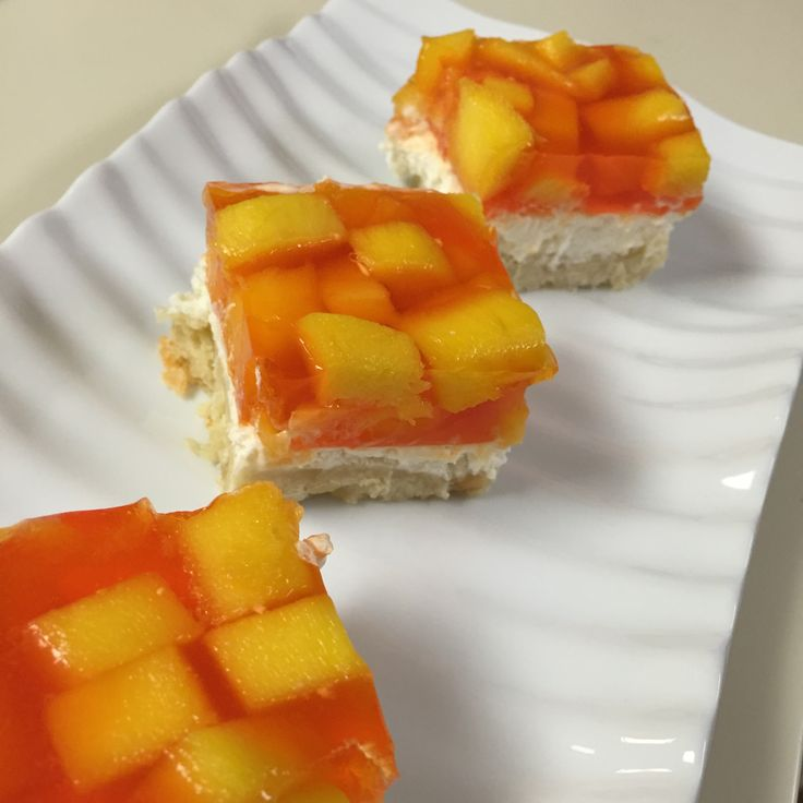 Mango. Cream cheese. Frozen whipped topping. You so want to make this -- click on the pic for the recipe! #ElectricKitchen