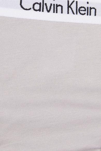 Calvin Klein Underwear - Set Of Three Carousel Stretch-cotton Jersey Briefs - Gray - x small