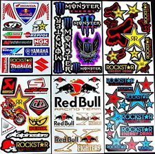 6 fantastic sheets Zru motocrosss stickers mx energy drink bike SCOOTER bmx RC