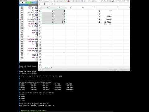 Polynomial Fitting using C++ Program Tutorial   Computer Aided Analysis