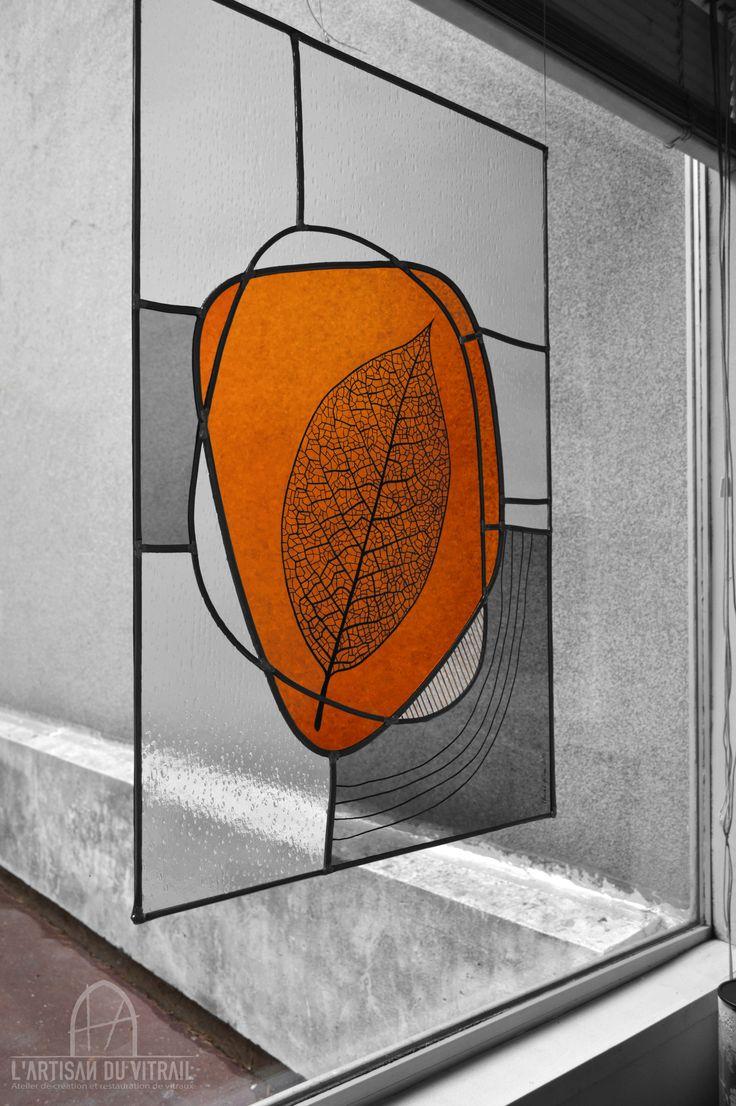 veins vitrail r alis en technique traditionnelle au plomb et grisaille sur verre format. Black Bedroom Furniture Sets. Home Design Ideas