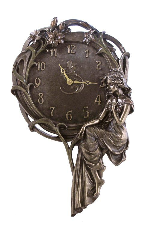 LILY & LADY CLOCK - BRONZE