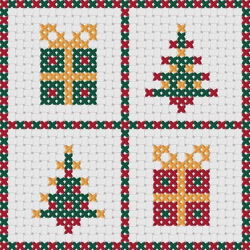 Tarjetas de Navidad punto de Cruz: diseños de por MKDesignArt