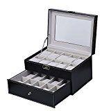 Amazon Angebote Herrenuhren Uhrenbox Uhrenkoffer Herren Frauen Uhrenkasten für 20 Uhren Uhrenschatulle aus Kunstleder…%#Quickberater%