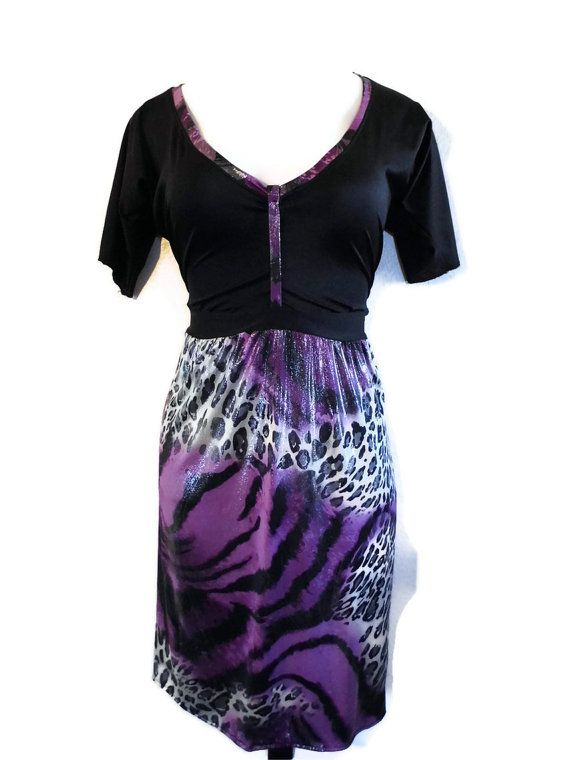 Sexy Animal Print Plus Size Dress Black Top by Figure8fashionsplus, $60.00
