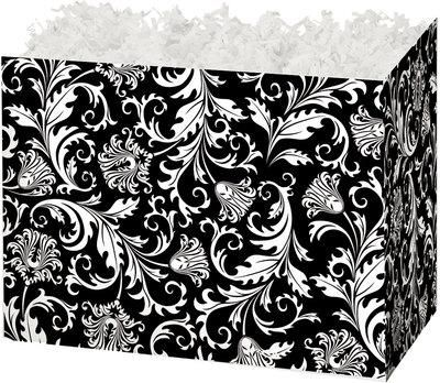 Black & White Damask - Caramel Popcorn Gift Basket