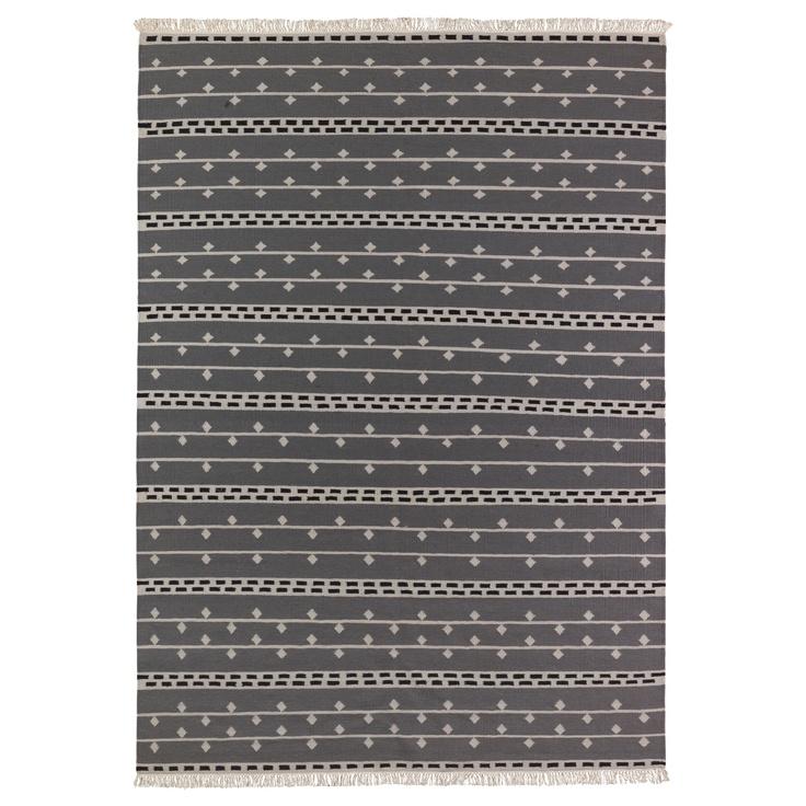 Ikea Off White Rug Ebay: ALVINE RAND Rug, Flatwoven, Gray, White/black $199.00