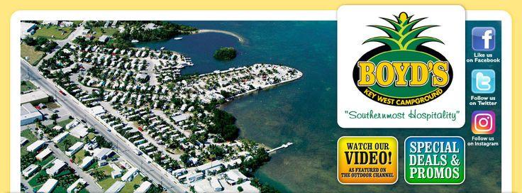 Boyd's Key West Campground, camping para RV en la playa
