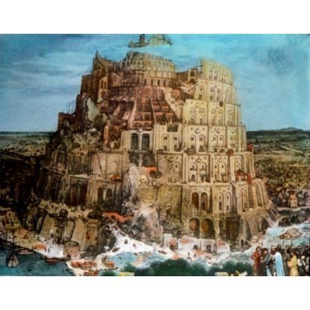 Tower Of Babel by Pieter Bruegel the Elder oil on wood panel circa 1563 1525-156…