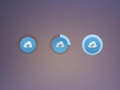 Upload Button (PSD) / Roman Bulah