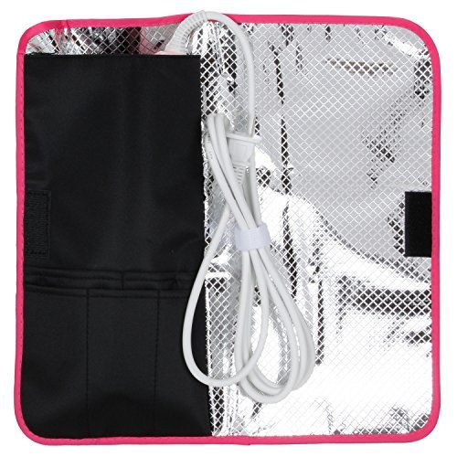 Thermostow Heat-resistant Hair Straightener Storage Bag, Thermal Pouch for Any Straightener, Curling Iron Storage, Cute, Convenient Beauty Product Storage * LEARN ADDITIONAL INFO @: http://www.passion-4fashion.com/beauty/thermostow-heat-resistant-hair-straightener-storage-bag-thermal-pouch-for-any-straightener-curling-iron-storage-cute-convenient-beauty-product-storage/